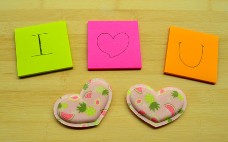 post it notes: Love message for someone on post it notes Stock Photo