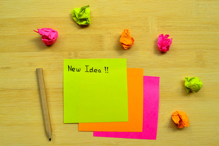 post it notes: Discovery new idea is writing in post it notes