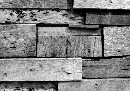 wood block: Black and white wood block background texture