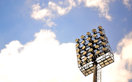 sports field: Sport lights with cloudy sky