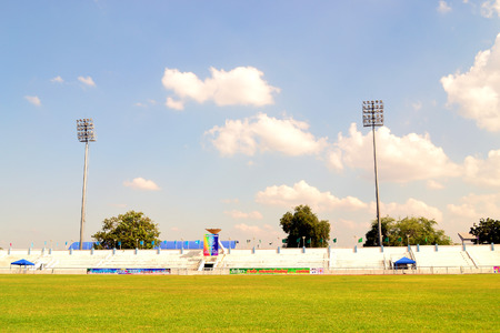 grandstand: Grandstand with cloudy sky in thailand