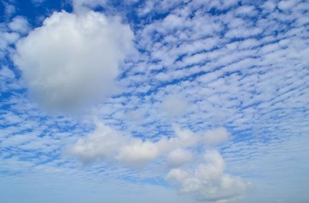 cloudscape: Beautiful blue sky with cloudscape