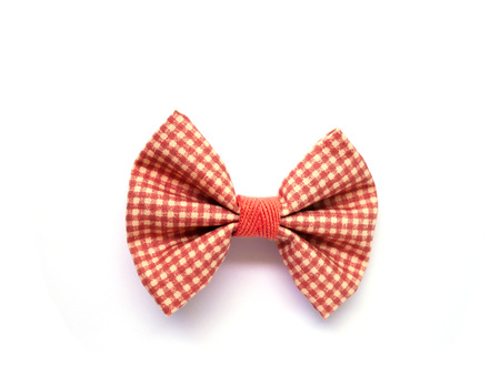 Pink ribbon isolated on white background 免版税图像