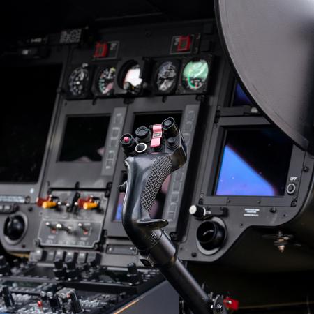 Helicopter cockpit with joystick Фото со стока