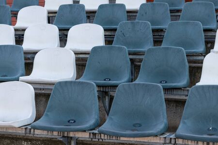 Empty seats in the sports stadium 1