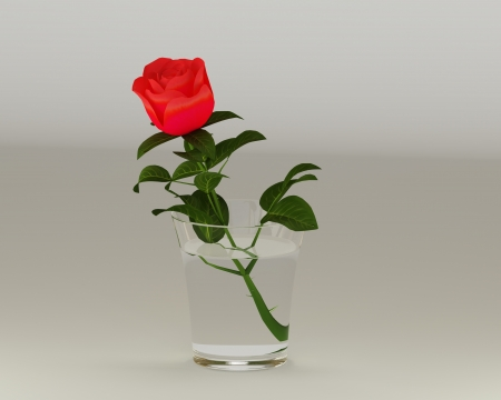 3D roses Stock Photo