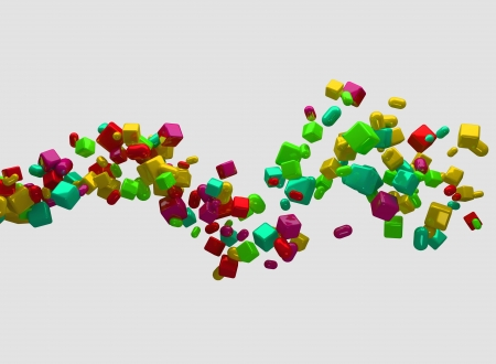 Randomly moving shapes