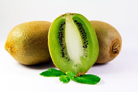 Kiwi fruit cut Stock Photo