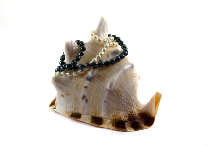 Black and white pearls, necklace