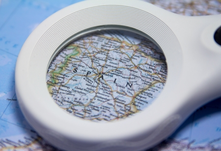 permits: Spain Map Stock Photo