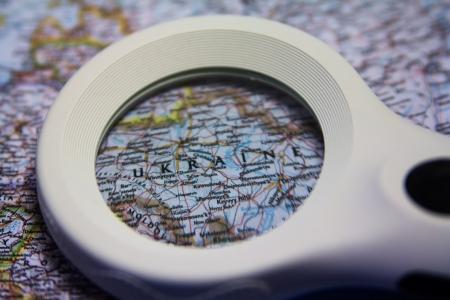 Ukraine on the map Stock Photo