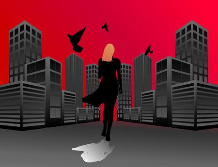 graphics, urban perspective, sad song