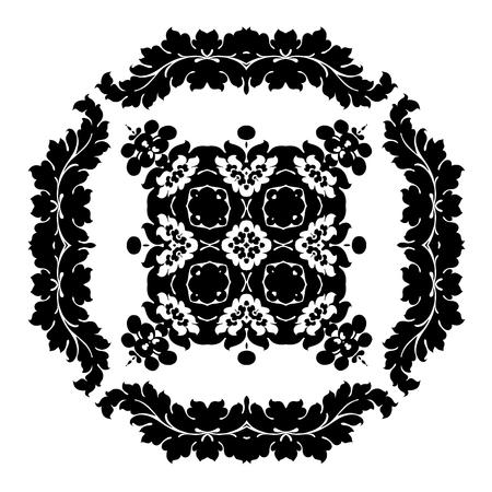 Excellent monochrome pattern for your wallpaper, clothing, porcelain Illustration