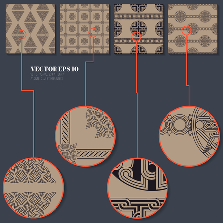 exclusive collection: Collection seamless patterns for your design. Exclusive vector 100% Illustration