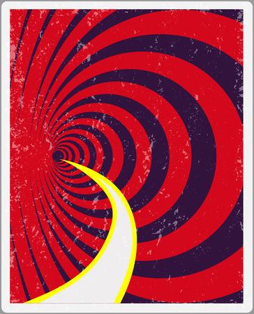 Retro poster Tkhe Classic Version of-Tkhe poster odds yor kreativity. Harvesting vector Illustration