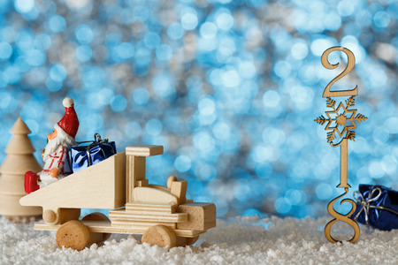 christmas card place for your text toy scene winter landscape a christmas - What Year Did A Christmas Story Take Place