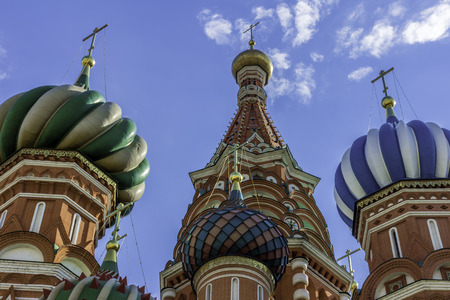 The Domes Of St. Basils Cathedral. Russia Moscow, Red square. Stock Photo