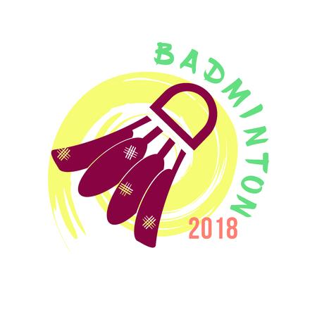 Creative shuttlecock, badminton, logo. The design of a sporting event.