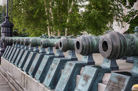 The Russian military guns of the XVII and XVIII centuries on the territory of the Moscow Kremlin