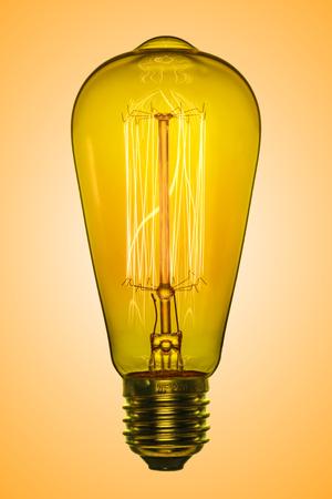 Light bulb idea. Lamp Edison retro style. Electric glow. 写真素材