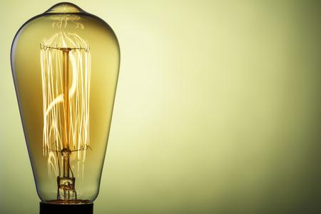 Light bulb retro. Edison's Light. Place for Your text.