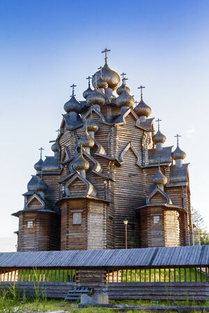 Church of the Intercession in the estate of the Theologian. Russia Saint Petersburg 22.06.2014 21: 45 pm