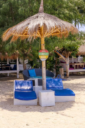 Gili Air Island in the Indian Ocean. 01/03/2017 The hotel and the surrounding area. Eco-friendly island. Editorial