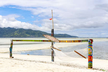Gili Air Island in the Indian Ocean. Beach comfort. Scenery for the beach. Made by hand.