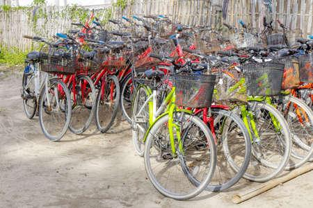 Gili Air Island in the Indian Ocean. 03.01.2017 bicycle rental