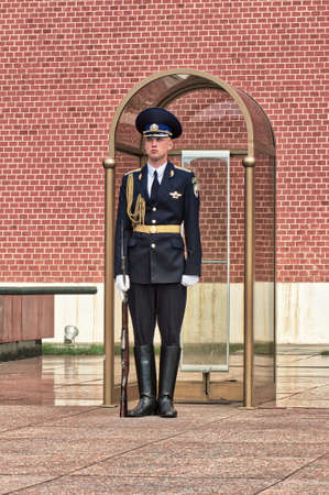 MOSCOW. RUSSIA-05.06.2018. Alexander Garden on Red Square at the Grave of the Unknown Soldier Editorial