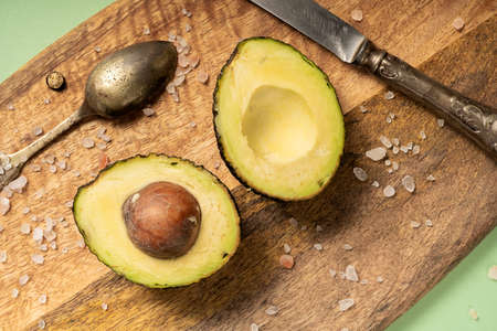 Ripe Avocado fruit Hass, dietary, healthy food. A fruit from Peru. Foto de archivo