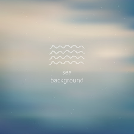 Pale dust sea ocean blurred defocused background, template for design backdrop Vector