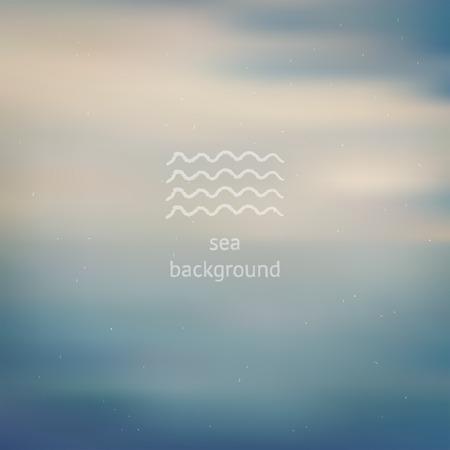 Pale dust sea ocean blurred defocused background, template for design backdrop Vector