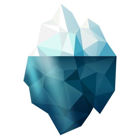 neve montagne: Isolato neve iceberg illustrazione vettoriale forma di montagna, segno inverno