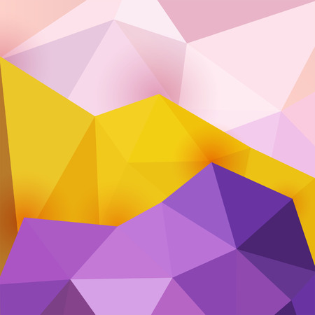 Three pastel colors abstract geometric triangle colorful vector background, design for poster backdrop Vector