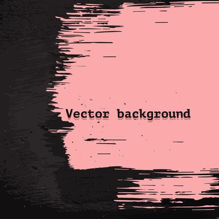 Roze verf donkere vuile muur in grunge stijl vector achtergrond voor poster of banner ontwerp