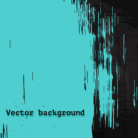 Turquoise vector painted grunge background, graphic design template