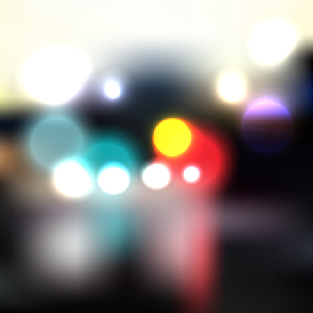 city lights: Colorful vector city lights, blurred design background template