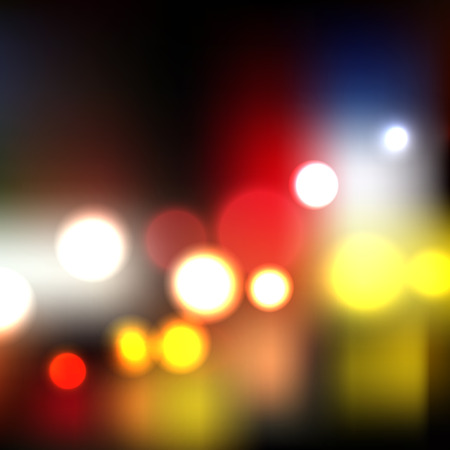 blurred lights: Vector night lights, blurred abstract background illustration