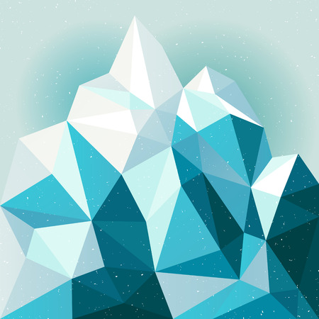 antarctic: Snow mountain vector abstract background, winter illustration, template backdrop for design