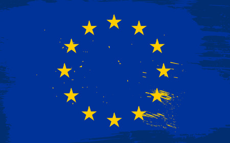 eu flag: Vector European union flag in grunge style