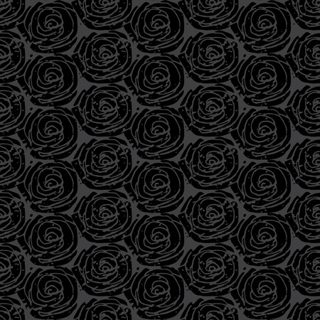 grunge pattern: Gray simple rose grunge pattern