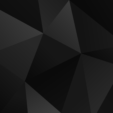 Black vector simple triangle geometric background Vector