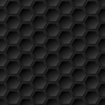 Zwarte 3d grid naadloze patroon, vector achtergrond