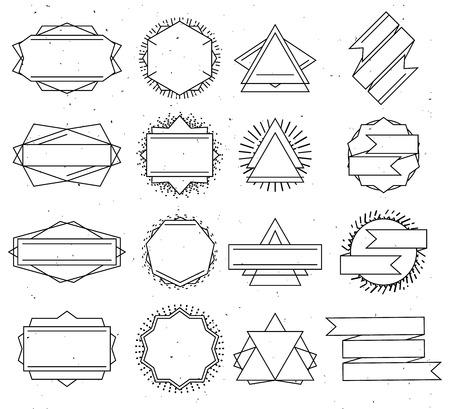 Big Vektor Reihe Von Line-Design Hipster-Logo-Vorlagen, Isoliert ...