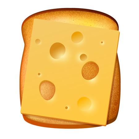 comiendo pan: Pan tostado con la rebanada de queso