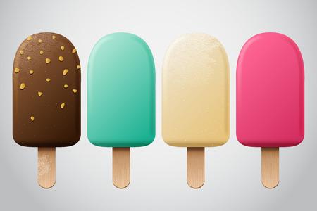 アイス クリーム セット  イラスト・ベクター素材
