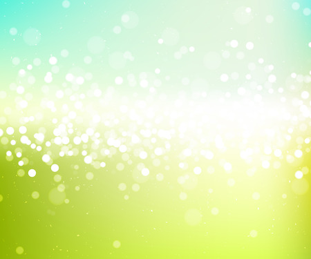 horizont: Spring abstract nature fresh glitter background, vector bright green wallpaper
