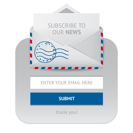 subscription: Subscription vector web form, isolated banner for newsletter subscribe