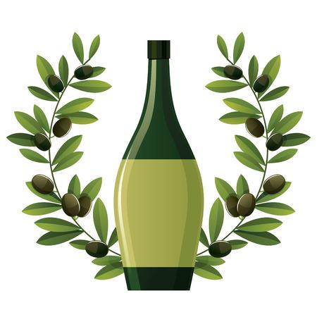 black olive: Black olive wreath with bottle